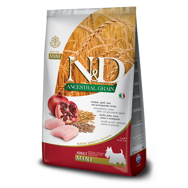 Farmina N&D Ancestral Grains Chicken, Spelt, Oats mini Dog food