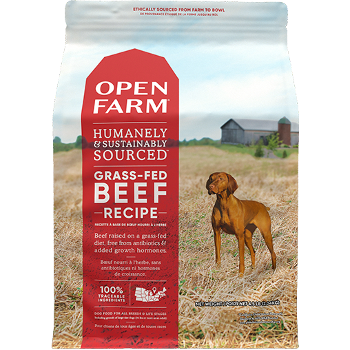 Open Farm dog grass fed beef