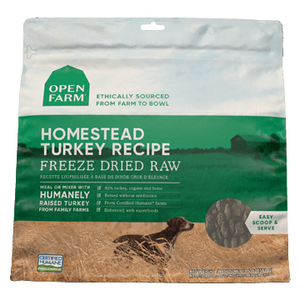 Open Farm Dog freezedried Raw Harvest turkey 13.5oz