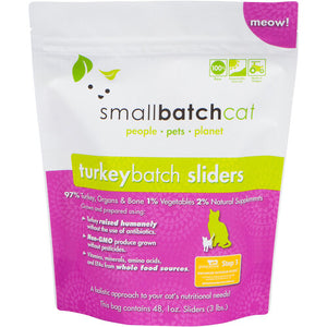 Smallbatch frozen turkey sliders for cats