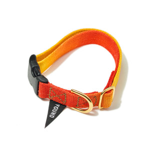 Found My Animal - Red to Yellow Cotton Dog Collar