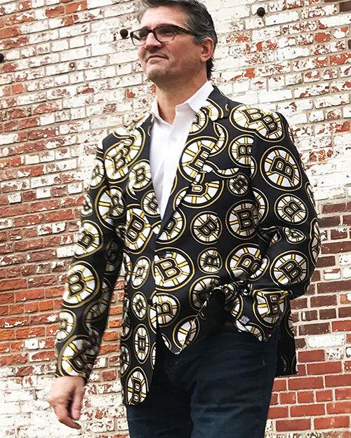 Boston Bruins - Men's All Over Print Blazer