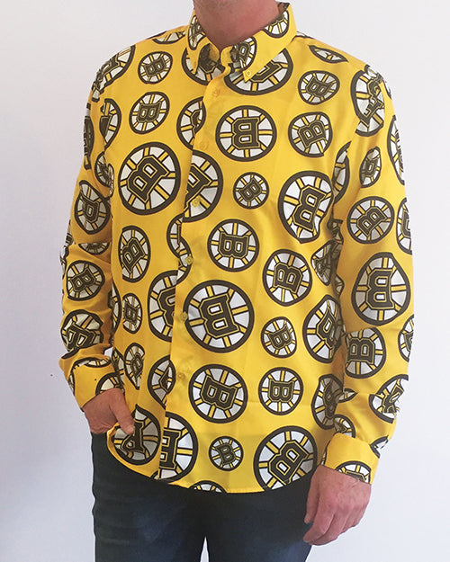 Boston Bruins - Men's All Over Print Dress Shirt