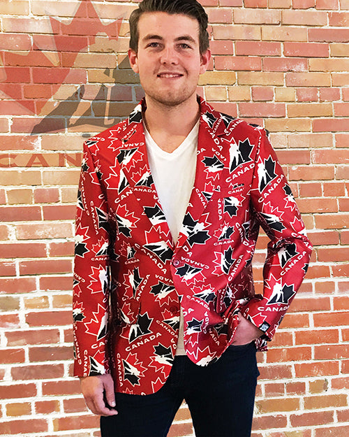 Hockey Canada - Men's All Over Print Blazer