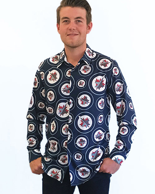 Winnipeg Jets - Men's All Over Print Dress Shirt