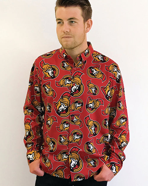 Ottawa Senators - Men's All Over Print Dress Shirt