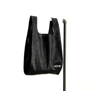 upcycled urban shopper - good bag habit big black.  sustainable bag brand.  made in south africa.