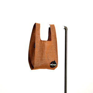 upcycled urban shopper - good bag habit standard rust. sustainable bag brand. made in south africa.