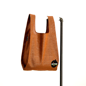 upcycled urban shopper - good bag habit big rust. sustainable bag brand. made in south africa.