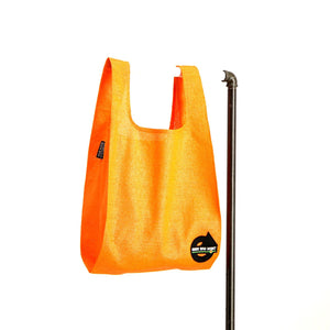 upcycled urban shopper - good bag habit big orange. sustainable bag brand. made in south africa.