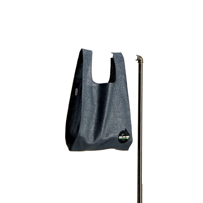 upcycled urban shopper - good bag habit standard charcoal. sustainable bag brand. made in south africa.