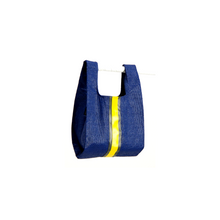 Load image into Gallery viewer, upcycled urban shopper - blue racer small. sustainable bag brand. made in south africa.