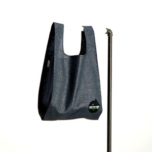 upcycled urban shopper - good bag habit big charcoal. sustainable bag brand. made in south africa.