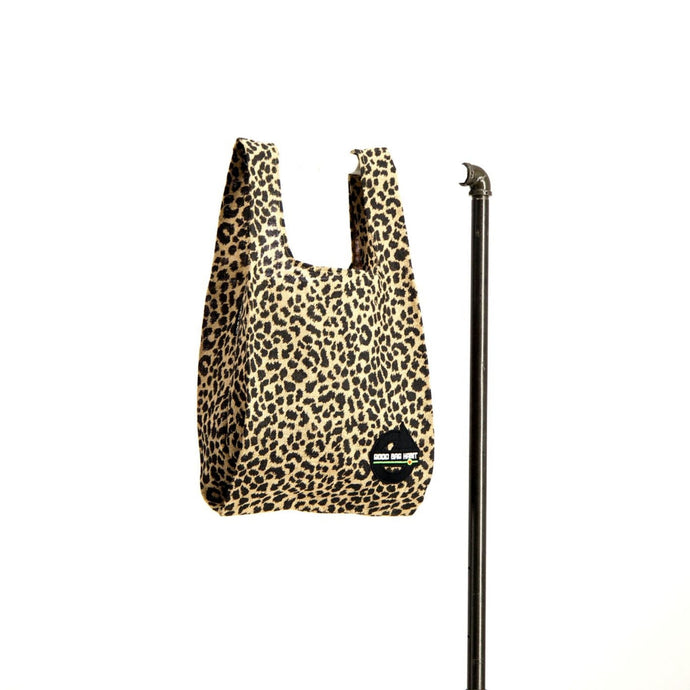 upcycled urban shopper - good bag habit animal print.  sustainable bag brand.  made in south africa.