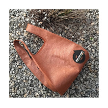 Load image into Gallery viewer, upcycled urban shopper - good bag habit standard rust on stones. sustainable bag brand. made in south africa.