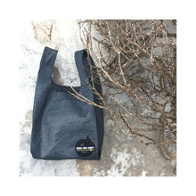 Load image into Gallery viewer, upcycled urban shopper - good bag habit standard charcoal on stone. sustainable bag brand. made in south africa.