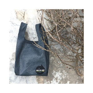 upcycled urban shopper - good bag habit standard charcoal on stone. sustainable bag brand. made in south africa.