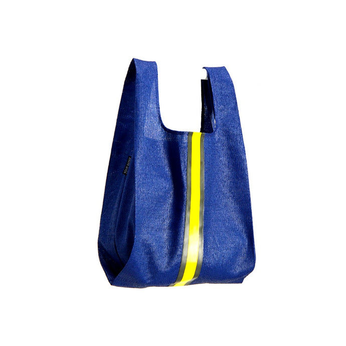 upcycled urban shopper - blue racer big. sustainable bag brand. made in south africa.