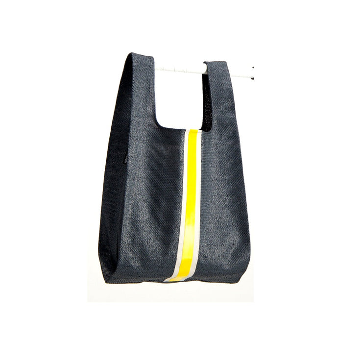 upcycled urban shopper - charcoal racer big. sustainable bag brand. made in south africa.