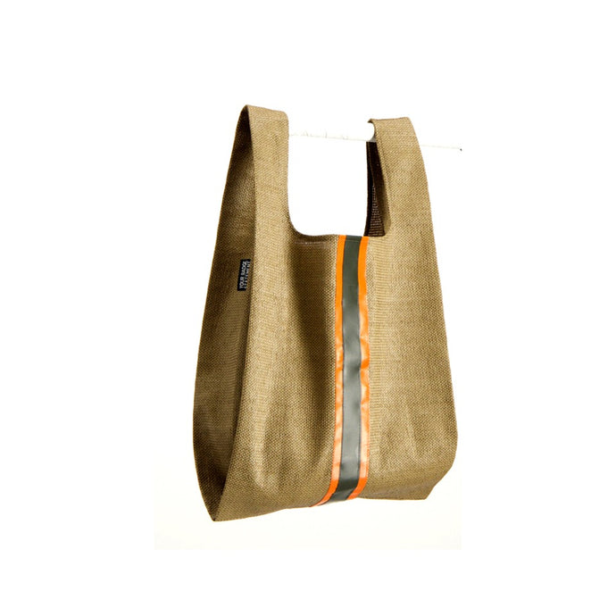 upcycled urban shopper - cinnamon racer big. sustainable bag brand. made in south africa.
