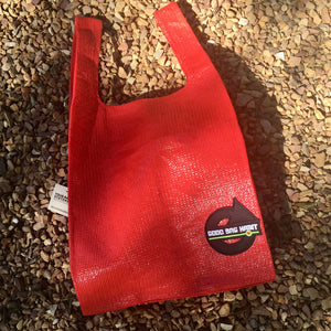 Upcycled Urban Shopper - GOOD BAG HABIT RED