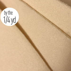 "Cups & Underwires - Cut And Sew Laminated Foam Nylon Tricot Covered, Beige 1/8"" Thick- By The 1/4 Yard"