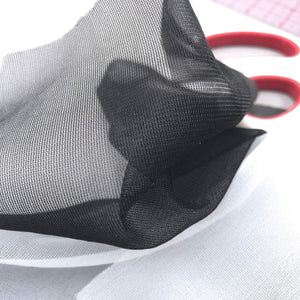 Fabrics And Mesh - Sheer Nylon Tricot Or Bra Lining, Low Stretch- By The 1/2 Yard
