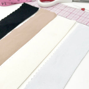 "Flat Elastics - 2"" (5.5cm) Picot Edge Plush Soft Matte Elastic, Stretch Trim- 1 Yard"
