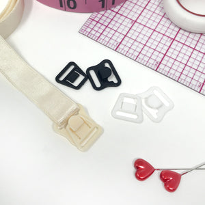 "Hardware & Fasteners - 1/2"" (12mm) Maternity Bra Strap Hooks- Set Of 2"