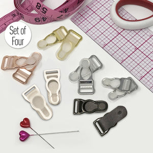 "Hardware & Fasteners - 3/8"" (10mm) Or 1/2"" (12mm) Garter Clips- Set Of 4"
