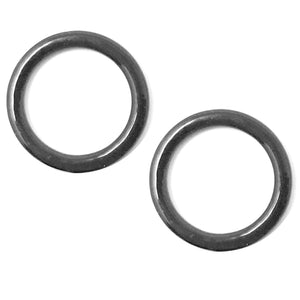 "Hardware & Fasteners - Set Of 2 Rings OR 2 Sliders Bra Strap Sliders In Charcoal Grey- 3/8"" (10mm)"