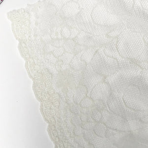 "Laces - 6 1/2"" (16cm) Wide Ivory Stretch Lace- 1 Yard"