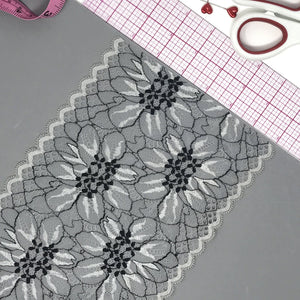 "Laces - 6 3/4"" (17cm) Scalloped Stretch Lace- 1 Yard"