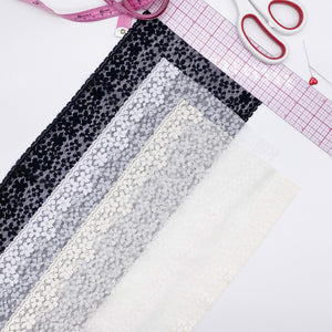 "Laces - 6 3/4"" (17cm) Stretch Lace, Soft, High-Quality In White, Black Or Ivory- By The 1 Yard"