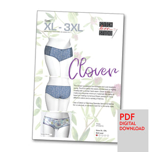 "Patterns - PDF ""Clover"" Panty Sewing Pattern, Sizes XL-3XL"