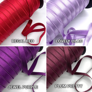 "Satin Elastics - 1/2"" (12mm) Satin Elastic, Bra Strap- 2 Yards"