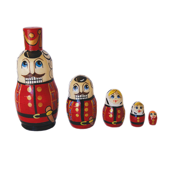 Small Nutcracker Nesting Dolls