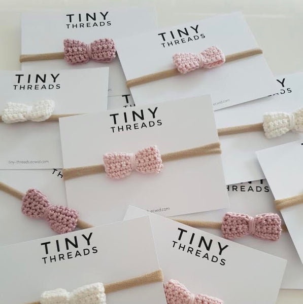 Mini Crochet Bow Headbands