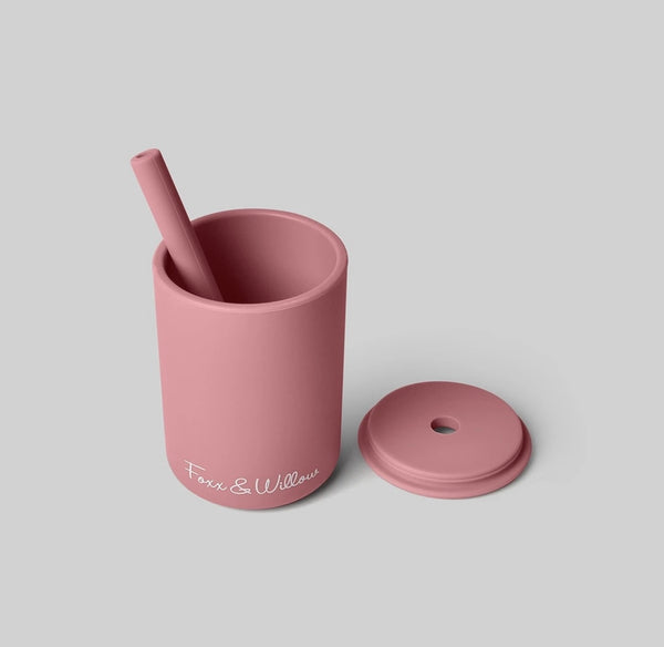 Silicone Cup & Straw Set