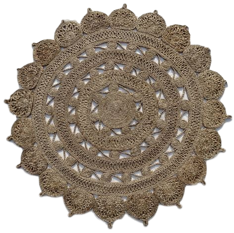 Jute - Anna I Hand Knotted Circular Rug