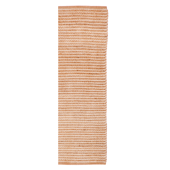 Jute - Aria Natural Jute & Cotton Hand Woven Runner - Stella Rugs
