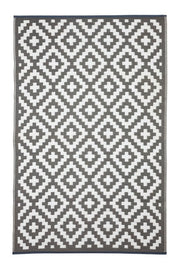 Aztec Grey and White Outdoor Rug