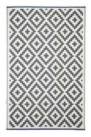 Aztec Grey and White Outdoor Rug - Stella Rugs