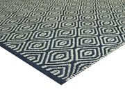 Balinese Black Wool/Seagrass Blend Natural Handwoven Rug