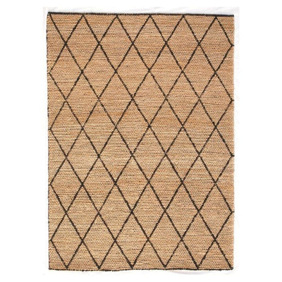 Jute - Breeze Black Hand Loomed Floor Rug - Stella Rugs