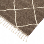 Berber Pure Wool Pile Kilim Brown - Stella Rugs