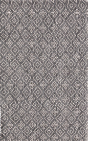 Bellevue Grey Hand Woven Pure Wool Low Pile Floor rug - Stella Rugs