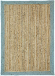 Hampton Blue Border Jute Rug - Stella Rugs