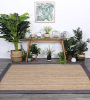 Hampton Grey Border Jute Rug - Stella Rugs