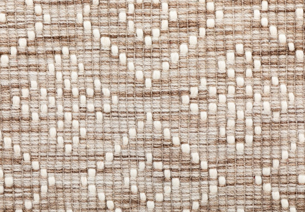 Bellevue Natural Hand Woven Pure Wool Low Pile Floor rug - Stella Rugs